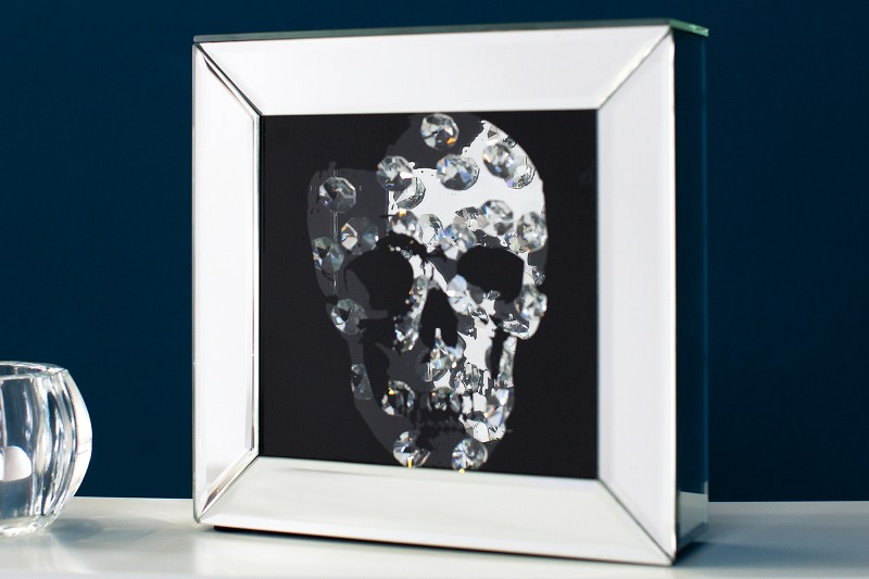 Obraz Mirror Skull Diamond 20x20cm