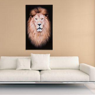 Obraz Mufasa 100x60cm Löwe sklo