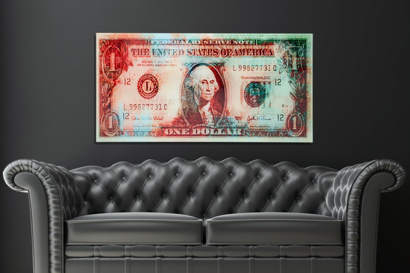 Obraz One US Dollar 100x50cm