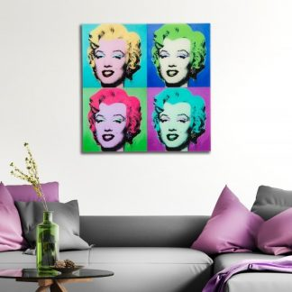 Obraz Pop Art Marilyn 60x60cm sklo
