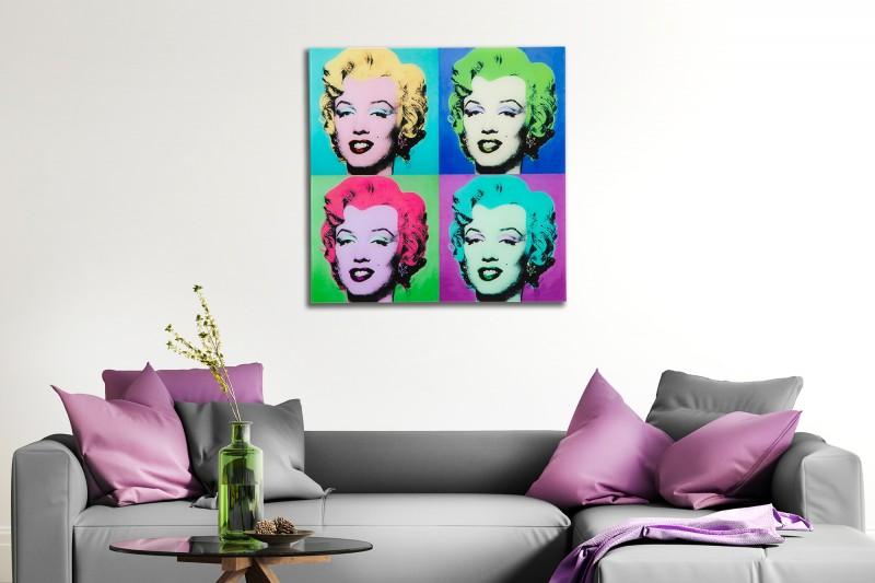 Obraz Pop Art Marilyn 60x60cm sklo