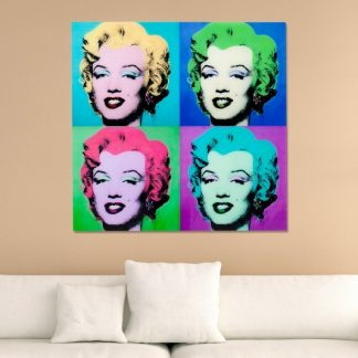 Obraz Pop Art Marilyn 80x80cm sklo