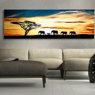 Obraz Savanne 140x45cm sklo