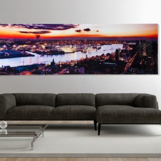 Obraz St.Pauli Sonnenuntergang 45x140cm sklo