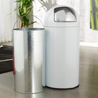 Odpadkový kôš Push Can biela 40L
