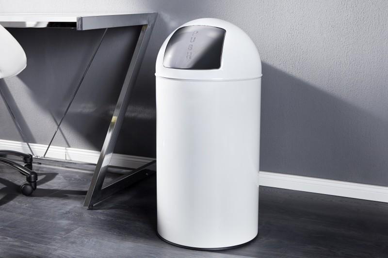 Odpadkový kôš Push Can biela 50L