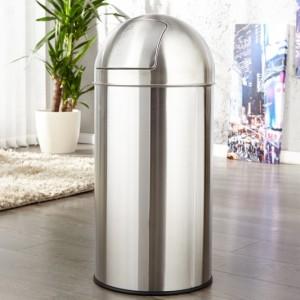 Odpadkový kôš Push Can chróm 40L