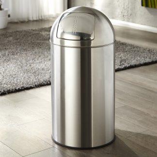 Odpadkový kôš Push Can chróm 50L