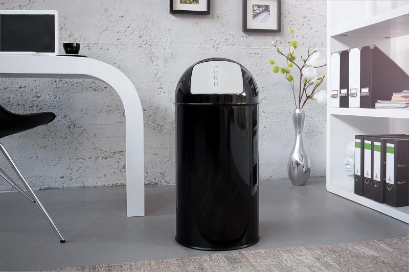Odpadkový kôš Push Can čierna 40L