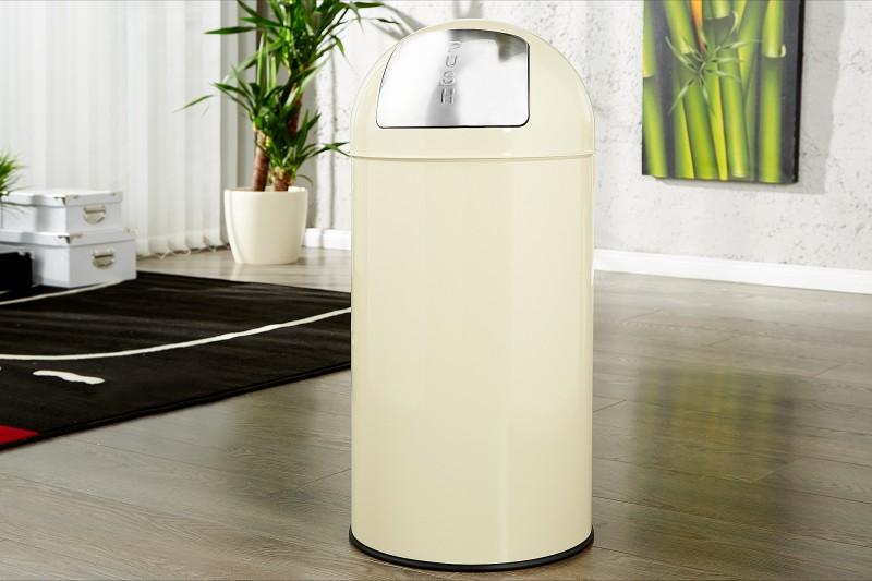 Odpadkový kôš Push Can créme 40L