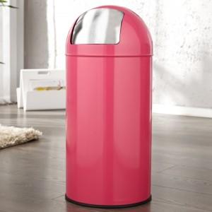 Odpadkový kôš Push Can ružová 40L