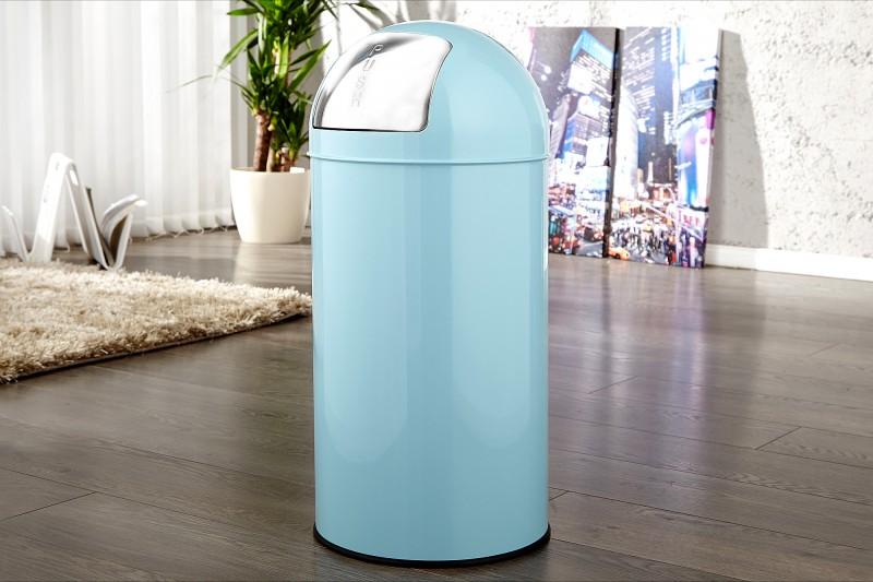 Odpadkový kôš Push Can svetlomodrá 40L