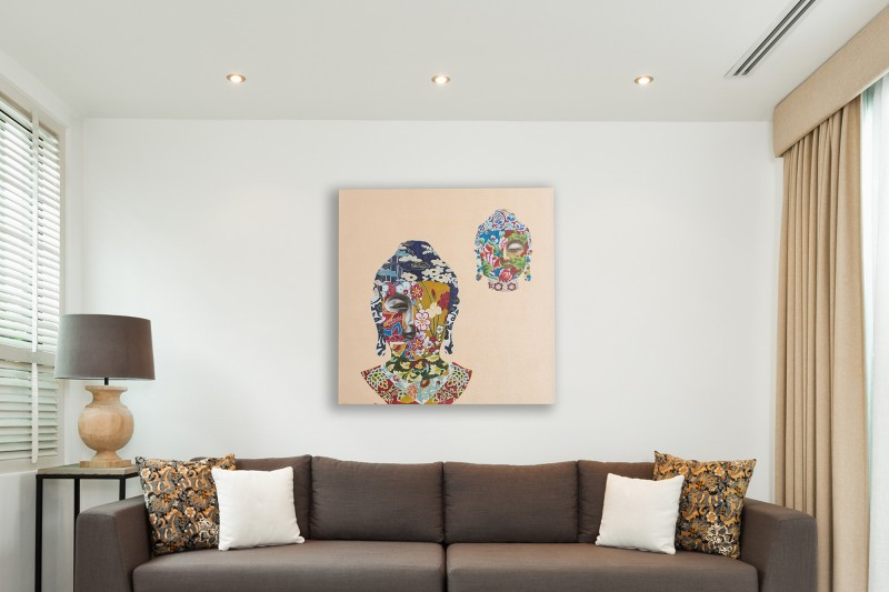 Olejomaľba Buddha Nirvana 80x80cm
