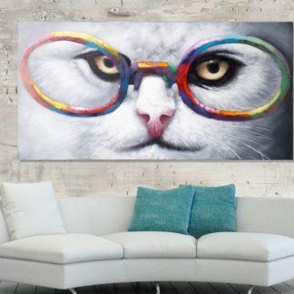 Olejomaľba Cheshire Cat 60x120cm Katze