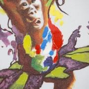 Olejomaľba Little Ape 50x50cm