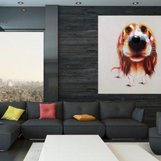 Olejomaľba PopArt Bello 80x80cm Hund