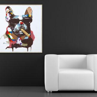 Olejomaľba PopArt BigBoss 50x50cm Hund