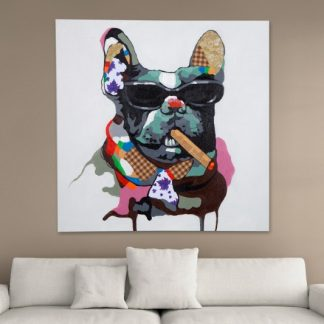 Olejomaľba PopArt BigBoss 80x80cm Hund