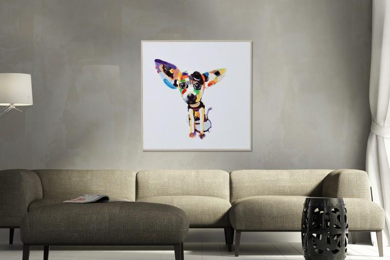 Olejomaľba PopArt Chihuahua 50x50cm Hund