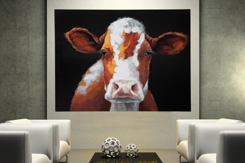Olejomaľba PopArt Cow 90x120cm Kuh