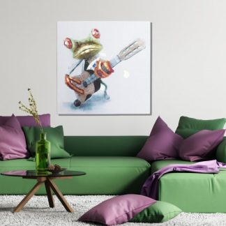 Olejomaľba PopArt Frog 50x50cm
