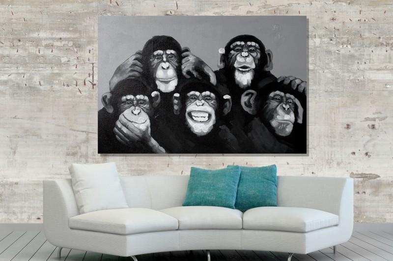 Olejomaľba PopArt MonkeyBusiness 80x120cm Affen