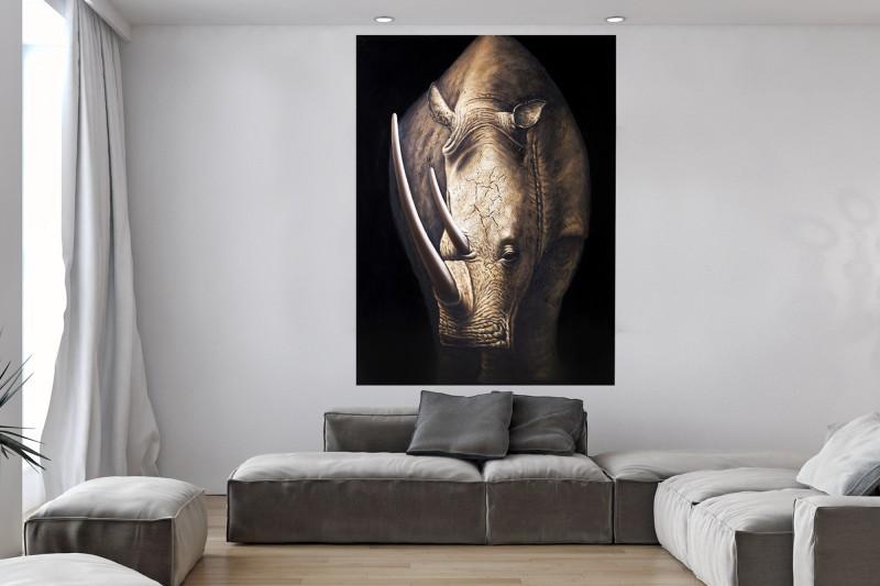 Olejomaľba PowerOfNature 120x160cm Nashorn
