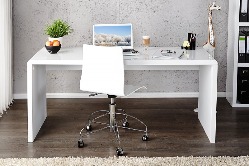 Písací stôl Fast Trade 120cm biela