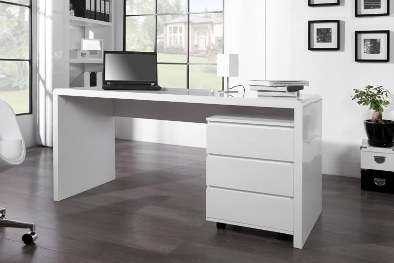 Písací stôl Fast Trade 160cm biela