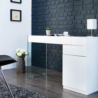 Písací stôl Floating 120cm biela