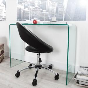 Písací stôl Ghost - sklo 100cm