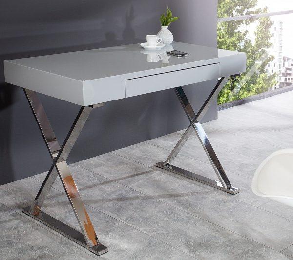 Písací stôl Grace 100cm sivá