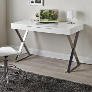 Písací stôl Grace biela 100cm