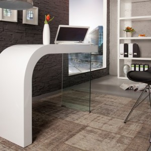 Písací stôl Onyx 120cm biela