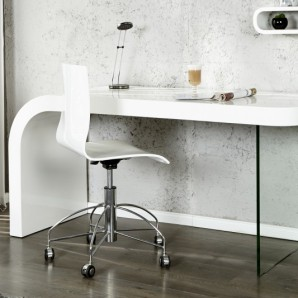 Písací stôl Onyx 140cm biela