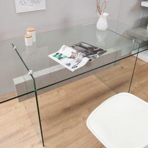 Písací stôl Onyx 160cm biela betón