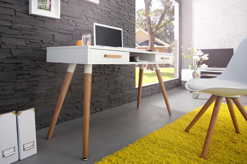 Písací stôl Scania Meisterstk. 120cm biela