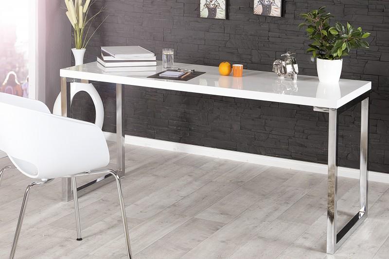 Písací stôl White Desk biela 140cm