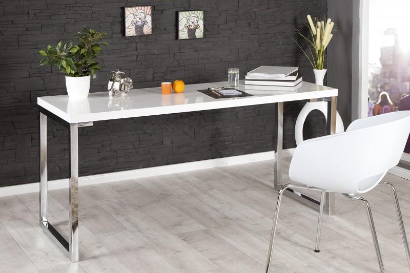 Písací stôl White Desk biela 160cm