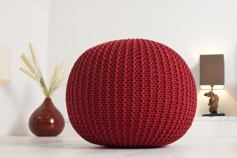 Podnožka 50cm červená - štrikovaný povrch