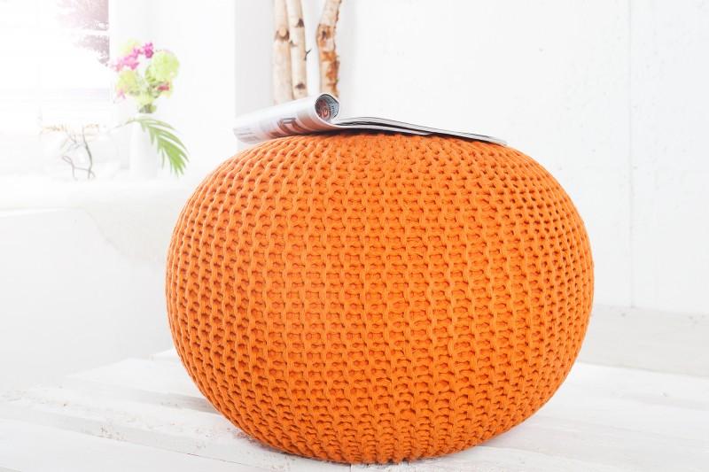 Podnožka 50cm oranžová - štrikovaný povrch
