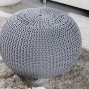 Podnožka 50cm sivá - štrikovaný povrch