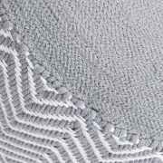 Podnožka Oriental sivá biela gewebt