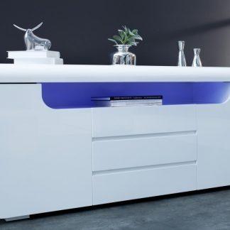 Príborník Cube Ambience 150cm LED biela