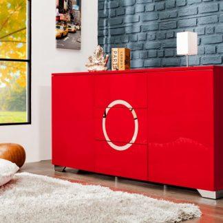 Príborník Zen 160cm červená
