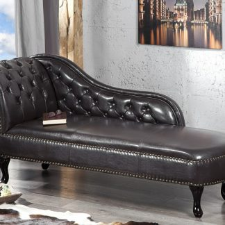 Recamiere Chesterfield dark coffee