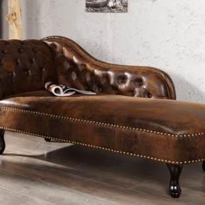 Recamiere Chesterfield hnedá (antik look)