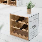 Regál na víno Maison Belle Affaire biela