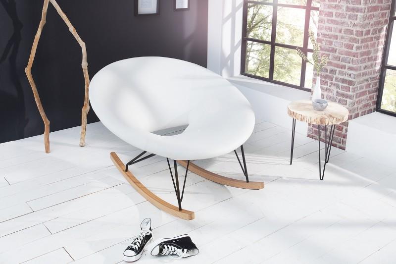 Schaukelstuhl Floating biela dub