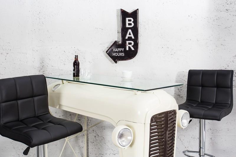 Schild Bar Happy Hours 40cm čierna links